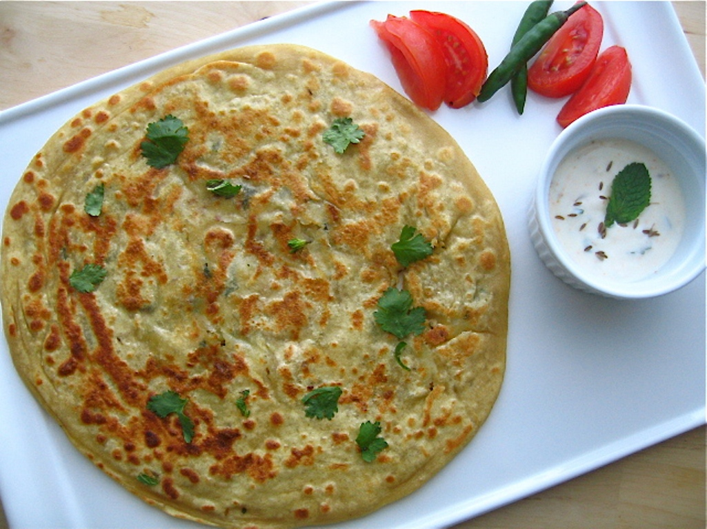 Parantha with curd